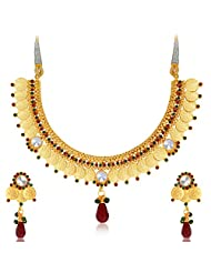 Sukkhi Astonish Gold Plated Temple Jewellery Necklace Set For Women