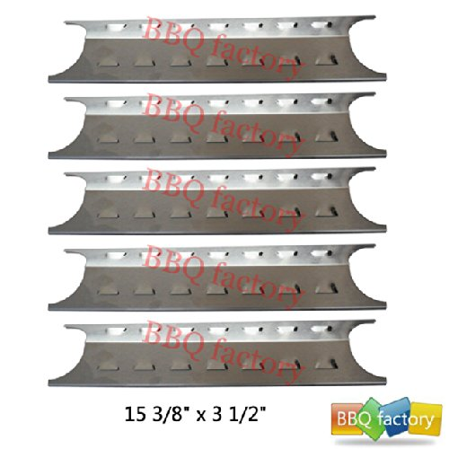 95181(5-Pack) Stainless Steel Heat Plate Replacement For Select Gas Grill Models By Brinkmann, Charmglow And Others