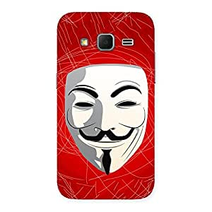 Gorgeous Red Anonymous Mask Back Case Cover for Galaxy Core Prime