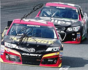 Buy *2X AUTOGRAPHED2013 Kasey Kahne #5 Clint Bowyer #15 Sprint Cup Series NASCAR SIGNED 8X10 Glossy Photo w  COA by Trackside Autographs