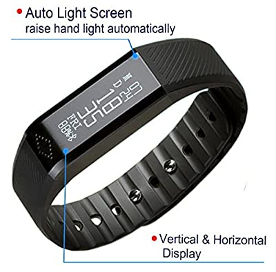 Toprime®Waterproof Pedometer smart watch Bluetooth 4.0 Fitness Tracker Bracelet X6 With Sleeping Monitor,Call/SMS Remaind For Sunsamsung iPhone devices by Zencro