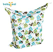Babygoal Baby Waterproof Washable Reusable Wet and Dry Cloth Diaper Bag L27