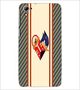 PrintDhaba Heart D-3213 Back Case Cover for HTC DESIRE 826 (Multi-Coloured)
