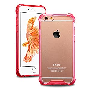 iPhone 6S Clear Case , iPhone 6S Silicone Case Bumper iPhone 6 Red Cover Clear Back Panel