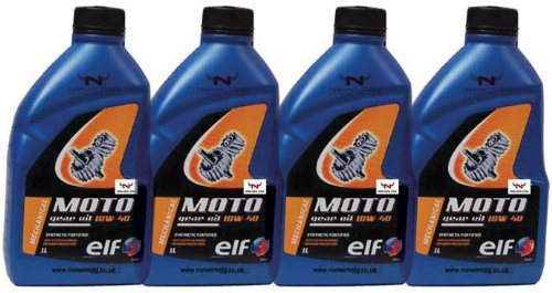 Elf Moto 10w40 Motorcycle Gear Oil TOT-111571-4 - 4x1L = 4 Litre