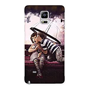 Delighted Kid Kiss Back Case Cover for Galaxy Note 4