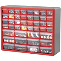 2-Pack Akro-Mils 10744A 44-Drawer Hardware & Craft Cabinets (Red/Grey)