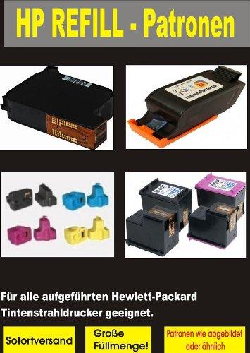 1 Ersatz Patrone zu HP Patrone Cartrige Nr. 22 - color - auch C9352AE - passt in die folgenden Drucker: HP Deskjet 3920, 3940, D1360 , D1460 , D2330 , D2360 , D2460 , F370 , F375 , F380 , F2100, F4180. HP Officejet (All-in-One) 4315 , 4355 , 5605 , 5607 , 5610 , 5615. HP Printer / Scanner / Copier 1402 , 1410 , 1415 , 1417. Sofortiges Einsetzen der Tintenpatrone - kein Chipumbau - 100% Füllstandsanzeige - Top Tinte - Qualitäts Ersatzpatrone
