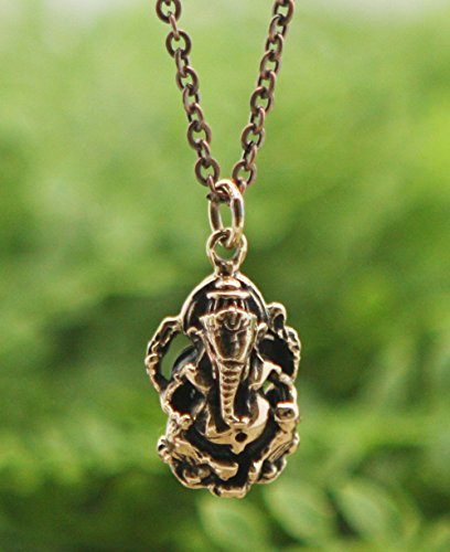 Bronze Ganesha Pendant Necklace