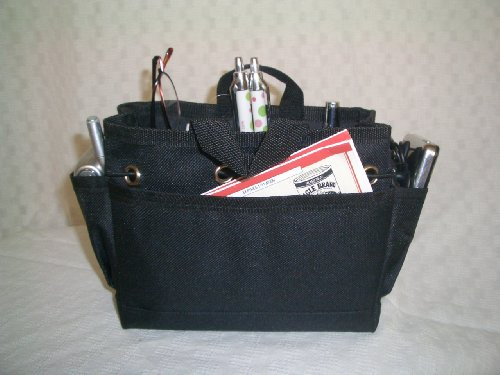 "Kwiki Purse Insert Organizer ""SMALL BLACK"" by BagnBasket"
