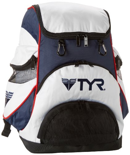 TYR Alliance Team Zaino da Nuoto, Bianco/Blu