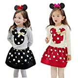 Zeagoo Baby Girls Kids T-shirt + Skirt Casual Clothes Sets Suit Outfits Age 3-11
