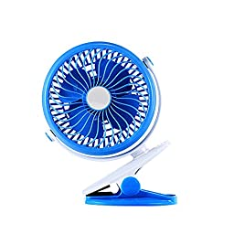 USB Desk Fan,eBerry® Portable Mini Table Fan,Usb Cooling Fan,Clip Cooler Fan/Personal Fan,18650 Battery Powered Desktop Fan,Rechargeable and Super Mute Handheld Fan with Adjustable Air Speed