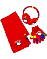 Hello Kitty HM4323 Girl's Earmuffs, Scarf and Glove Set
