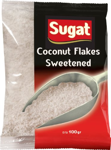 Sugat Coconut Flakes Sweetened, Passover,3.5000-ounces (Pack of12)