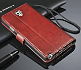 Bracevor Premium Leather Wallet Stand Case Flip Cover for Samsung Galaxy S4 - Executive Brown