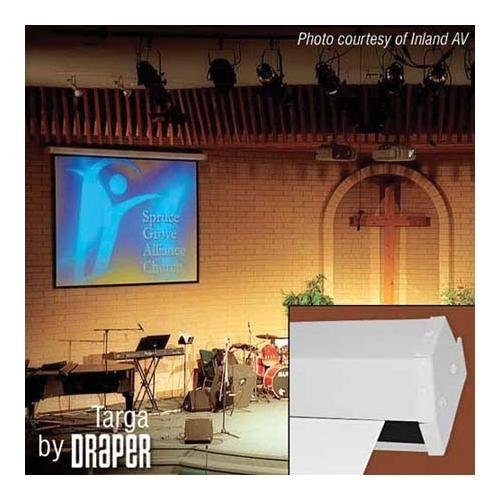 Targa Matte White Electric Projection Screen With Quiet Motor Viewing Area: 9' H X 12' W