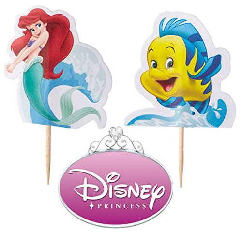 Little Mermaid Ariel Cake Party Cake Decoration Pix Sticks