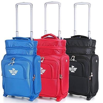 CABIN1 Aerolite Adaptable Carry On Hand Luggage Trolley Bag by Aerolite
