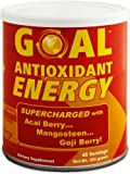 GOAL Antioxidant Energy Powder Supercharged with Acai Berry Mangosteen and Goji Berry - Weight Loss Fat Burner Supplement