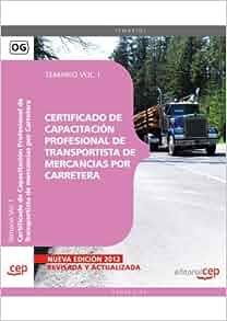 Certificado de capacitación profesional de transportista