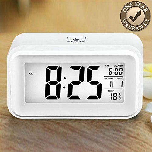 Best Travel Alarm Clock by ISLU Home & Kitchen, a Multi-function Clock with Date & Temperature is an Advance Alarm Clock, Battery Operated & Portable, When It Comes to Alarm Clocks This is a Winner, In Blue or White Limited Supplies Get Yours Today!