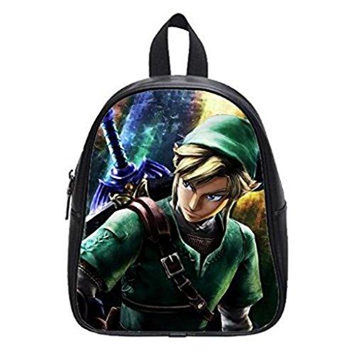LilyFavor The Legend Of Zelda Custom Zaino School Borsa Black Borsa(Large)
