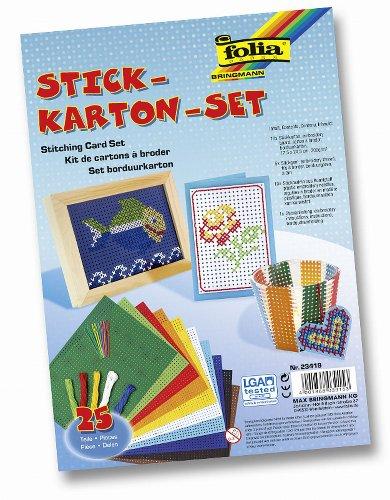 Folia 23419 - Stickkarton - Set, 25-teilig hergestellt von Folia