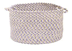 Colonial Mills TI99 14 by 14 by 10-Inch Confetti Storage Basket, Lilac