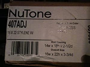 Jensen 407ADJ Basic Styleline Recessed Molded Medicine Cabinet