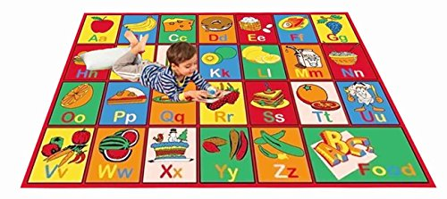 "Kids Rug ABC Fruit Area Rug 39"" X 58"""
