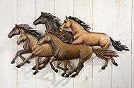 Rustic Southwestern Running Horses Wa…