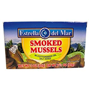 Amazon.com : Sunny Sea Smoked Mussels, Whole, Eoc, 3 Ounce Cans (Pack ...