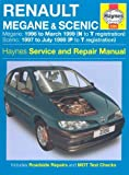 Renault Megane and Scenic Petrol and Diesel Service and Repair Manual: 1996 to 1999 (Haynes Service and Repair Manuals) by Churchill, Jeremy (2006) Hardcover