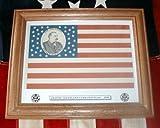 Framed, 38 star, Grover Cleveland Campaign Flag of 1888
