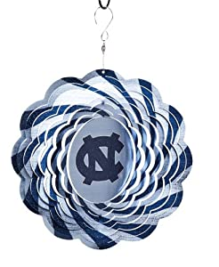 NCAA Football North Carolina Tar Heels Outdoor Decorative Geo Wind Spinner 10""