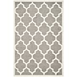 Safavieh Amherst Collection AMT420R Dark Grey and Beige Indoor/ Outdoor Area Rug, 6-Feet by 9-Feet