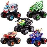 Disney / Pixar Cars Exclusive Monster Truck Mater Plastic Figurine Set Tormentor, Frightening McMean, IScreamer, Paddy O Concrete Rastacarian