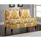 Metro Shop Cassidy French Yellow/ Cream Ikat Loveseat--