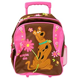 Cartoon Network Scooby Doo kids size rolling backpack