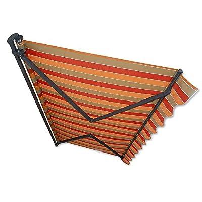 Gelenkarm-Markise 4 x 2,5 m braun-terracotta (Profilfarbe: Anthrazit) Sonnenschutz Alu Markise Schattenspender Sonnensegel von Jawoll - Gartenmöbel von Du und Dein Garten