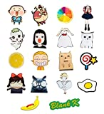 Blank K 17pcs Acrylic Brooch Set Funny Brooch Pin for Clothes/Bags/Backpacks