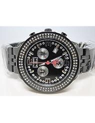 Ladies Brand New Black Metal Platinum Joe Rodeo Diamond Watch 1.50CT JPTL15