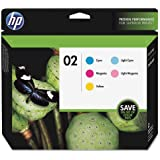 HP 02 5-pack Cyan/Magenta/Yellow/Lt Cyan/Lt Magenta Original Ink Cartridges (CC604FN)