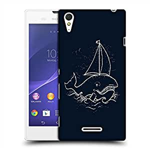 Snoogg Boat Whale Designer Protective Back Case Cover For SONY XPERIA T3