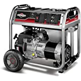 Briggs & Stratton 30469 6000-Watt Gas Powered Portable Generator with 1650 Series 342cc Engine and Power Surge Alternator, Engine Oil Included