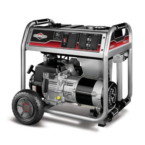 51MtKMOMyIL. SL500  Briggs  &  Stratton 30469 6,000 Watt 342cc Gas Powered Portable Generator With Wheel Kit