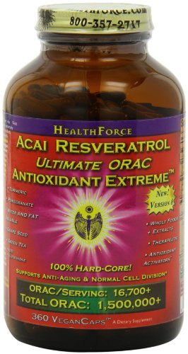 Healthforce Acai Resveratrol Ultimate Orac Antioxidant Extreme, 360 Vegancaps