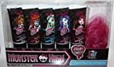 Monster High 5 Scented Shower Gels with Body Poof