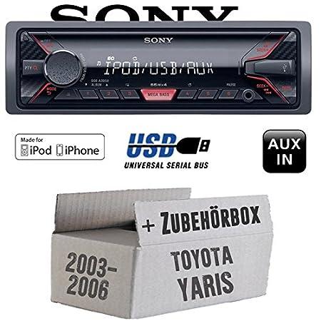 Toyota Yaris P1 2003-2006 - Sony DSX-A200UI - MP3/USB Autoradio - Einbauset